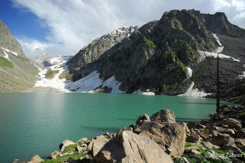 Spin Khawar Lake (June 2014) -- This picture taken in the month of June, 2014