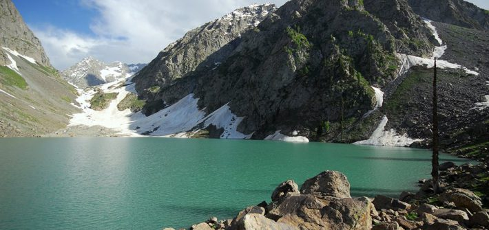 Spin Khwar Lake in Swat Valley, Pakistan